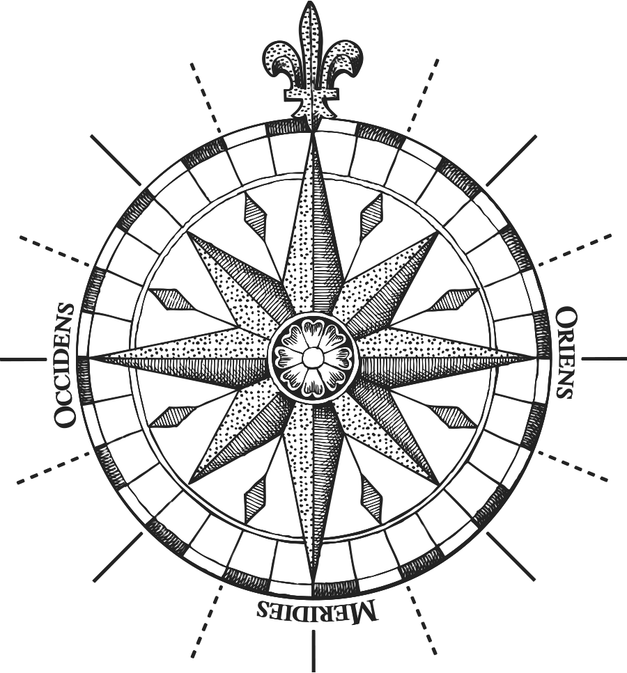Compass etching