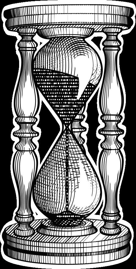 Hourglass etching